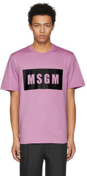 MSGM Purple Logo T-Shirt