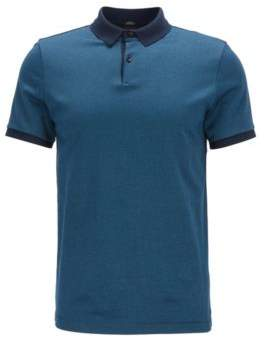 BOSS Hugo Mercerized Cotton Polo Shirt, Slim Fit Penrose XXL Dark Blue