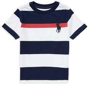 Polo Ralph Lauren Boys' Cotton Striped Big Pony Tee - Little Kid