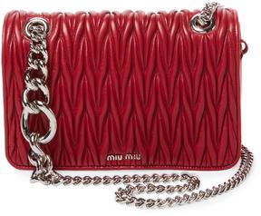 Miu Miu Women's Club Matelassé Leather Shoulder Bag