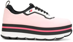Prada neoprene platform sneakers