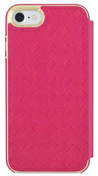Trina Turk Basket Weave Folio Apple Phone Case - Fuchsia - iPhone 7/8