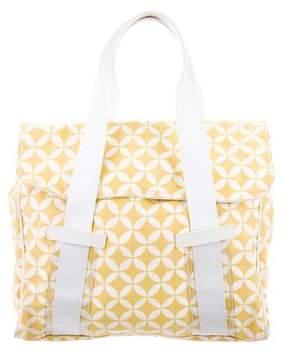 Dries Van Noten Leather-Trimmed Printed Bag