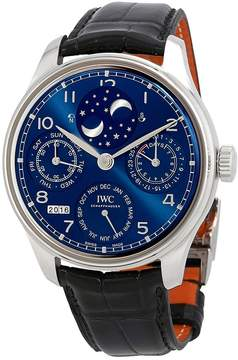 IWC Portugieser Perptual Calendar Double Moonphase 18K White Gold Men's Watch 5034-01