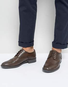 Frank Wright Brogues In Brown Leather
