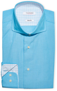 Isaac Mizrahi Slim Fit English Collar Dress Shirt