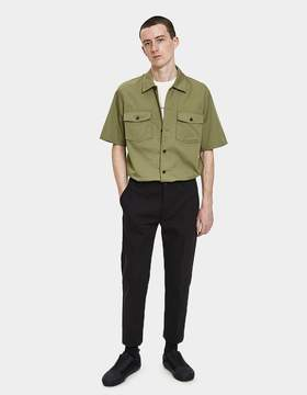 Our Legacy Chamois Short Sleeve Shirt in Olive Tactic Twill