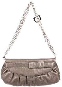 Salvatore Ferragamo Bow-Accented Leather Shoulder Bag