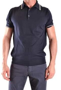 Ballantyne Men's Blue Cotton Polo Shirt.