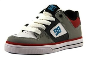 DC Pure Round Toe Leather Skate Shoe.