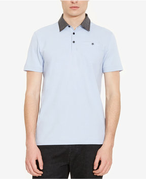 Kenneth Cole New York Men's Contrast Collar Polo