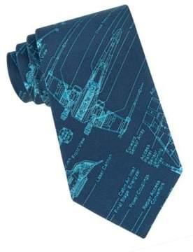 Star Wars X-Wing Fighter Blue Print Tie
