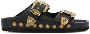 Fausto Puglisi ornate buckle sliders