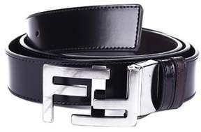 Fendi Men's Brown/black Leather Belt.