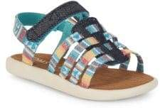Toms Little Girl's & Girl's Printed Grip-Tape Sandals