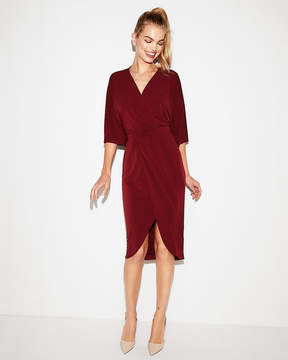 Express Kimono Sleeve Wrap Front Midi Dress