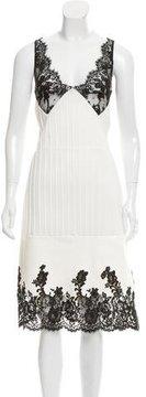 Celine 2016 Leather-Paneled Dress w/ Tags