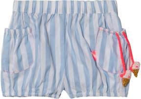 Billieblush Blue and White Stripe Shorts with Ice Cream Detail