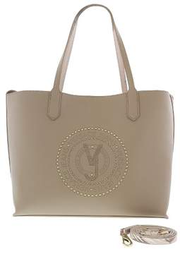 Versace EE1VRBBQB Light Brown Tote Bag W/ detachable storage pouch and shoulder strap