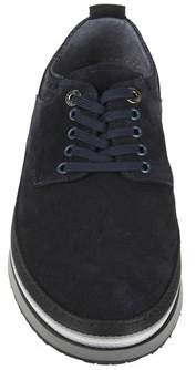 Cesare Paciotti Men's Blue Leather Sneakers.