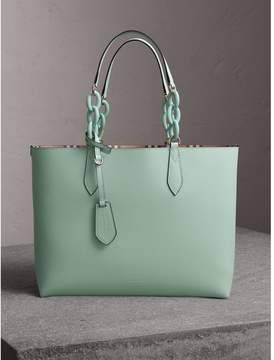 Burberry The Medium Reversible Tote with Resin Chain