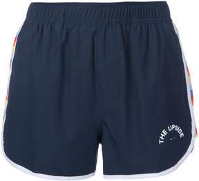 The Upside striped sides mini shorts