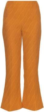 Emilia Wickstead Sammy textured-jacquard crepe trousers