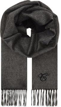 Canali Two-tone silk & cashmere scarf