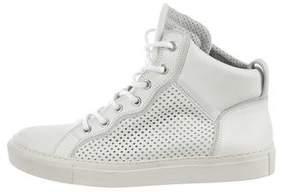 Balmain Round-Toe High-Top Sneakers