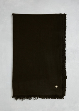 Ann Demeulemeester Soft Black Cashmere Scarf