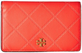 Tory Burch Georgia Slim Medium Wallet Bill-fold Wallet - BLACK - STYLE
