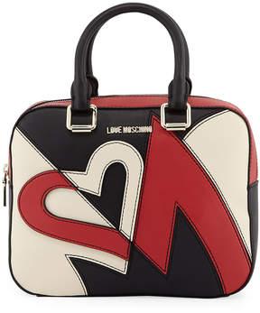 Love Moschino Faux Heart Crossbody Bag