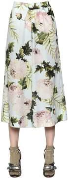Antonio Marras Floral Printed Cotton Poplin Pants