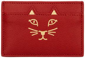 Charlotte Olympia Red Feline Card Holder