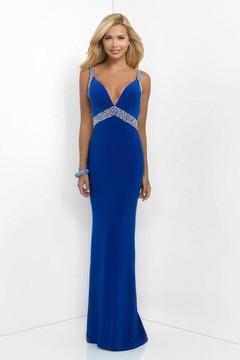 Blush Lingerie Sequined V-Neck Jersey Sheath Dress 11032