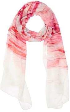 St. John Women's Textured Brushstroke Print Silk Scarf