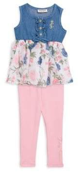 Juicy Couture Baby's Two-Piece Tunic and Leggings Set