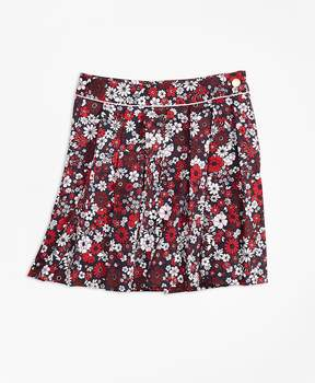 Brooks Brothers Cotton Sateen Floral Skirt