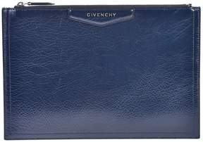 Givenchy Blue Medium Antigona Clutch