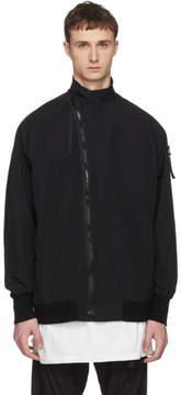 Julius Black Grosgrain Arm Zip Coat