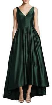 Betsy & Adam Hi-Lo Sleeveless Ball Gown
