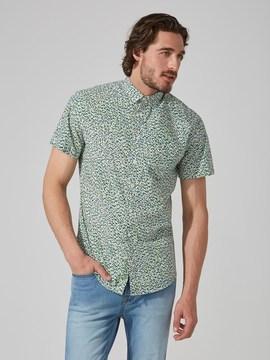 Frank and Oak 90s Geo-Print Poplin Cotton Shirt