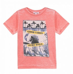 3 Pommes Coral Printed T-Shirt