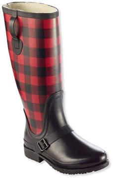 L.L. Bean Women's Insulated Wellie Rain Boots with Polartec Fleece, Tall