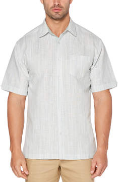 Cubavera Contrast Space Dye Stripe Shirt