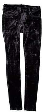 Adriano Goldschmied Low-Rise Velvet Pants