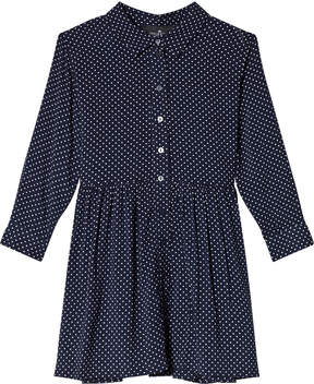 Little Remix Navy White Dots Shirt Dress