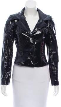 Chanel Patent Leather Notch-Lapel Jacket