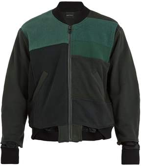 Longjourney Patchwork cotton bomber-jacket