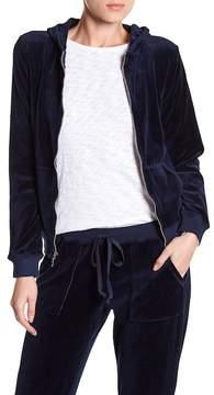 Allen Allen Velour Zip Up Jacket